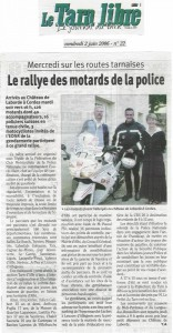 Article Championnat de France des motards de la Police Nationale